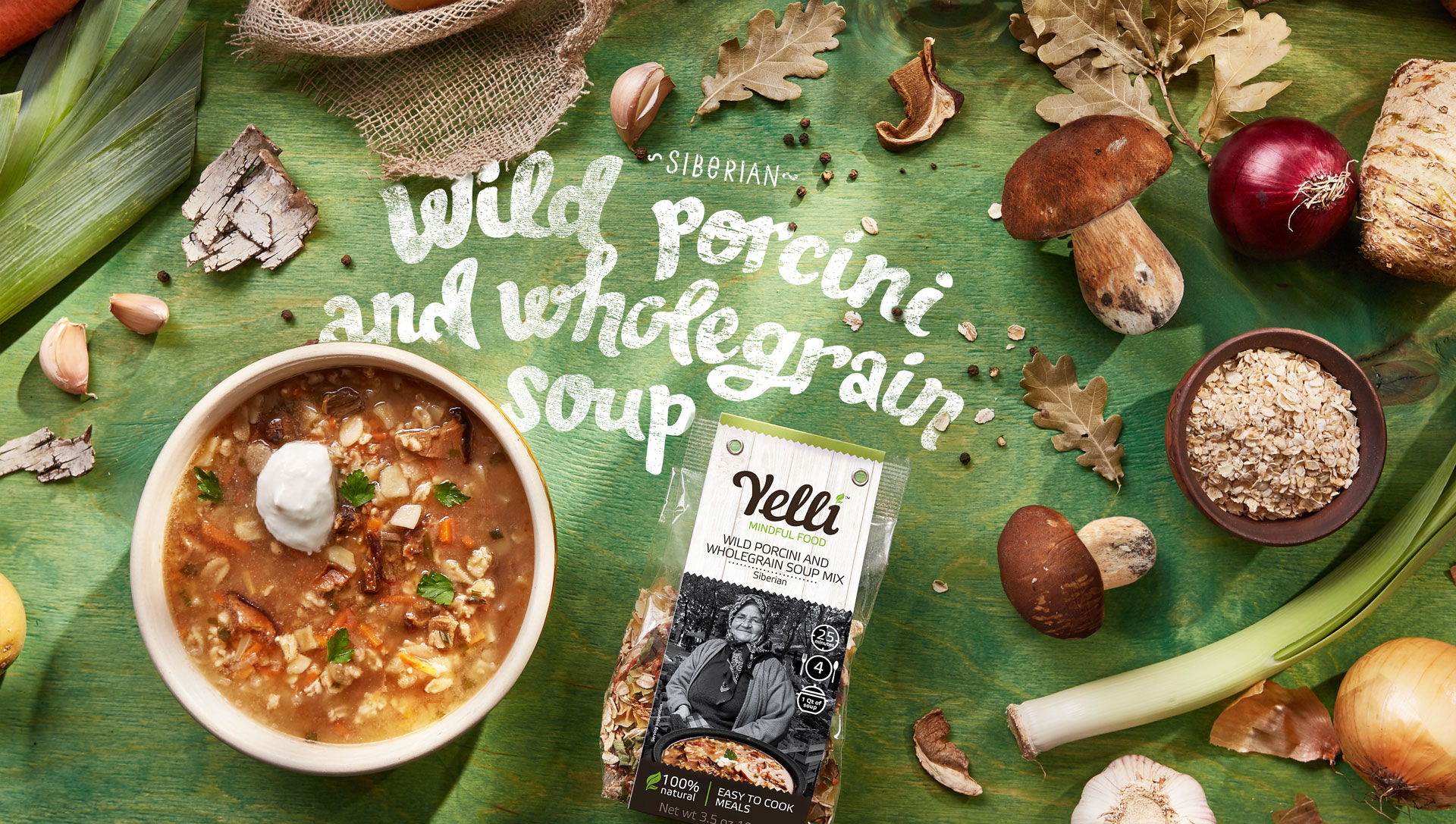 WILD PORCINI AND WHOLE GRAIN SOUP MIX